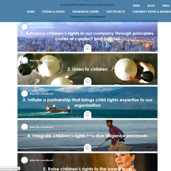 Pilotpartner beim GlobalChildForum für WePledged4Children