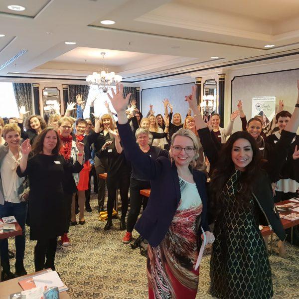 Aussteller und Gast beim Unternehmerinnen-Kongress in Berlin