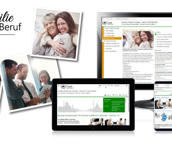 Website zur Vereinbarkeit Familie und Beruf für Dresden geht online