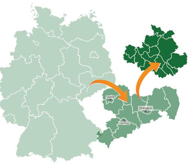 Eine eigene Region in Sachsen? Das ist ja fast geschenkt!
